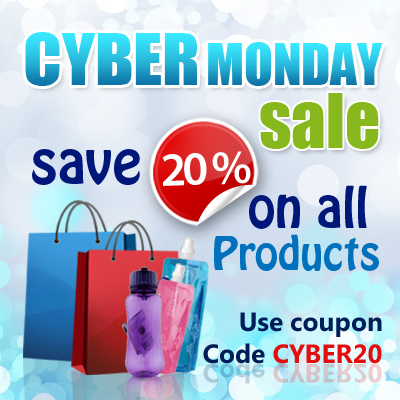 Cyber Monday sale at Waterbottles store