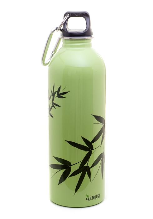 Earthlust 1 Liter Bamboo Stainless Steel Metal Water