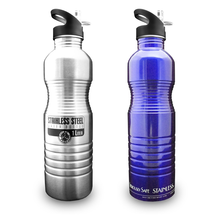 new wave enviro 1 liter 32oz stainless steel metal water bottle. Black Bedroom Furniture Sets. Home Design Ideas